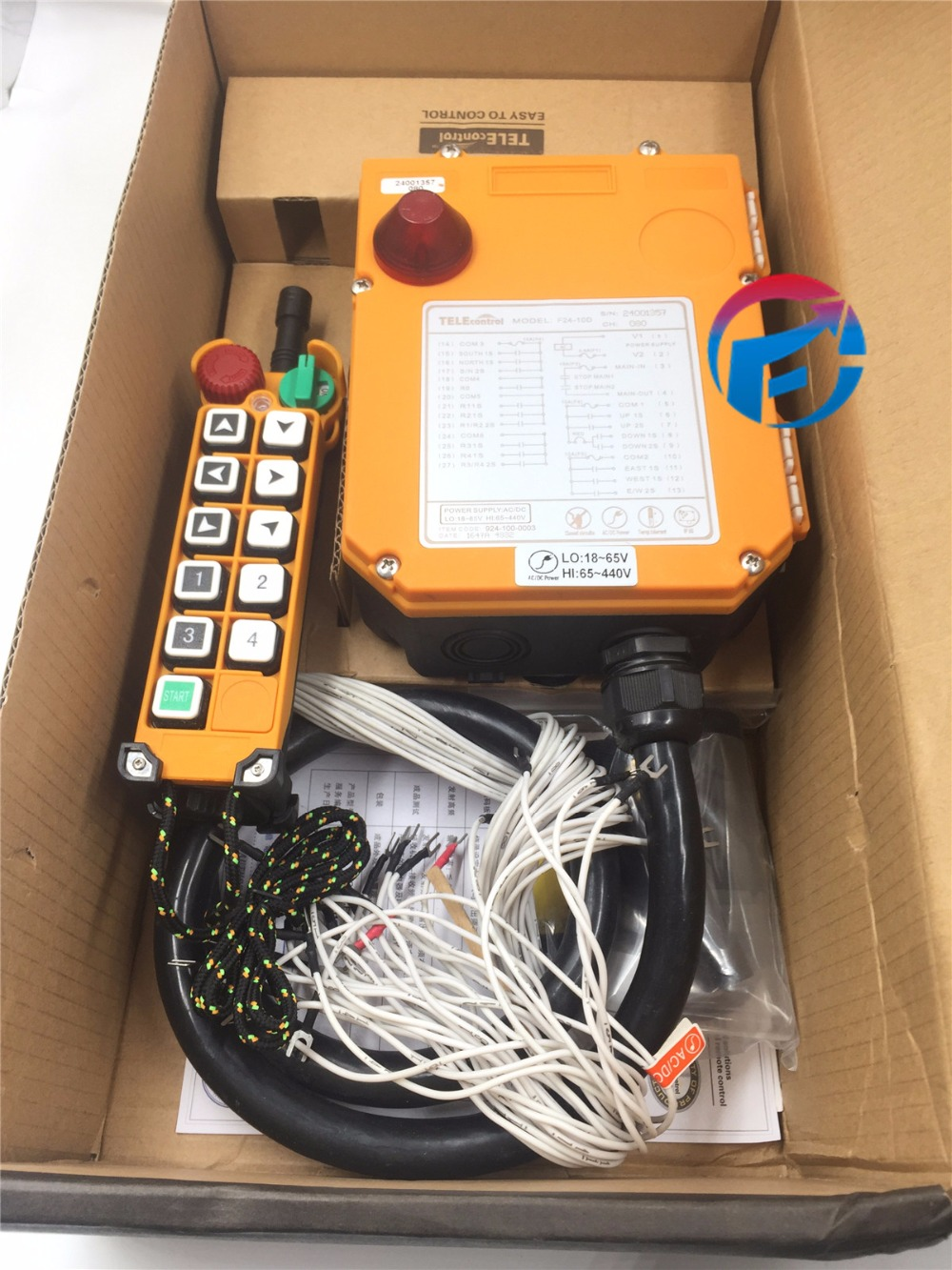 F24-10D 2 speed Wireless Remote Control Electric Chain Hoist Crane Controller 1 Transmitter + 2 Receiver 18V 30a esc welding plug brushless electric speed control 4v 16v voltage