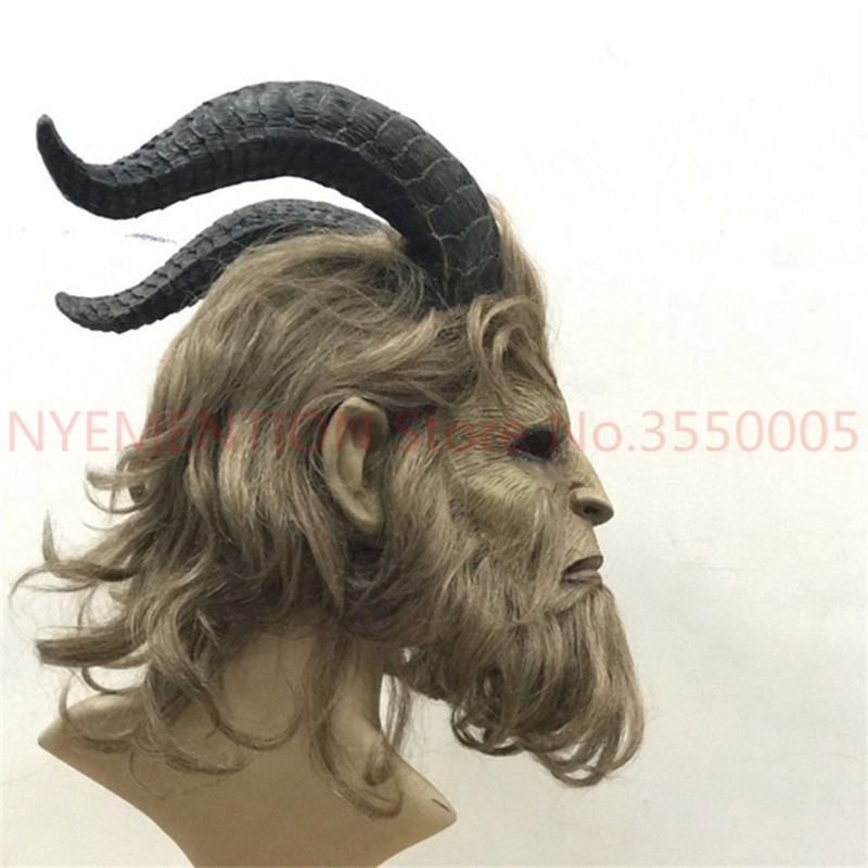 The Beast Mask 2017 Hot Movie Beauty and the Beast Adam Prince Cosplay Mask Cosplay Horror Halloween Party Full Face Masks