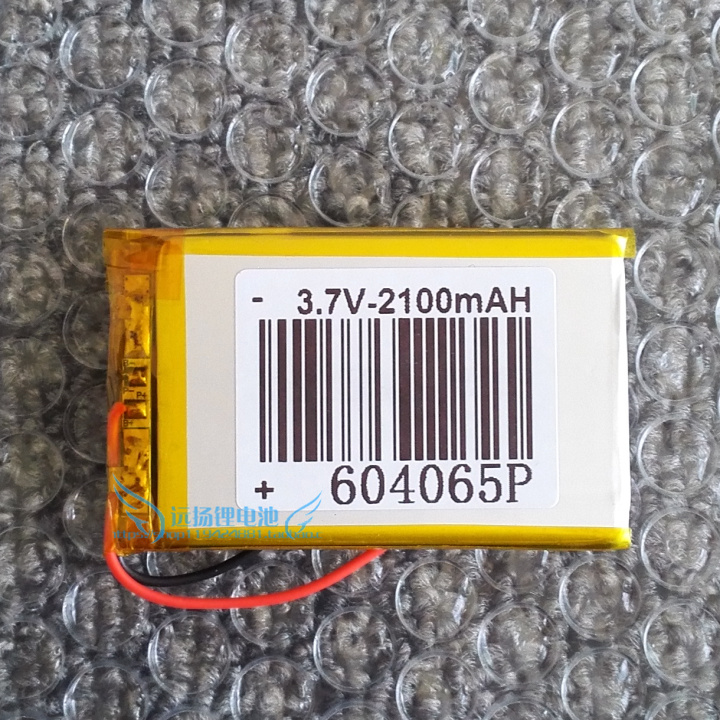 3.7V Lithium Battery, 2100mAh Polymer, MP5 Learning Machine And Other Rechargeable Lithium Battery 604065 Rechargeable Li-ion Ce
