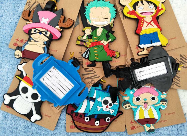 One Piece Luffy Zoro Lembut Anime Tindakan Q Angka Kartun Bagasi PVC Koper Gambar Ornamen Kategori Mainan Hadiah Baru
