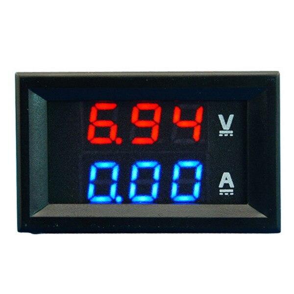 A2 Dual LED DC Digital Display Ammeter Voltmeter LCD Panel Amp Volt 100A 100