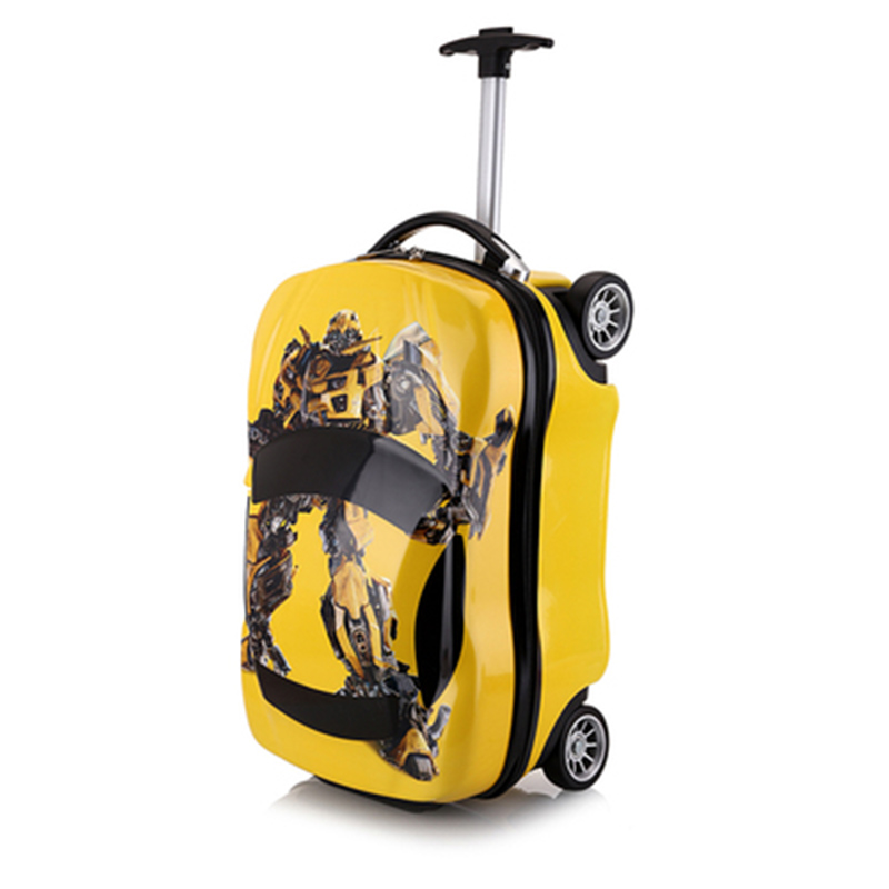 18inch Kids Suitcase 3DCar Children's Luggage Travel Trolley case Suitcase set wheels Child schoolbags Toys Rolling luggage box