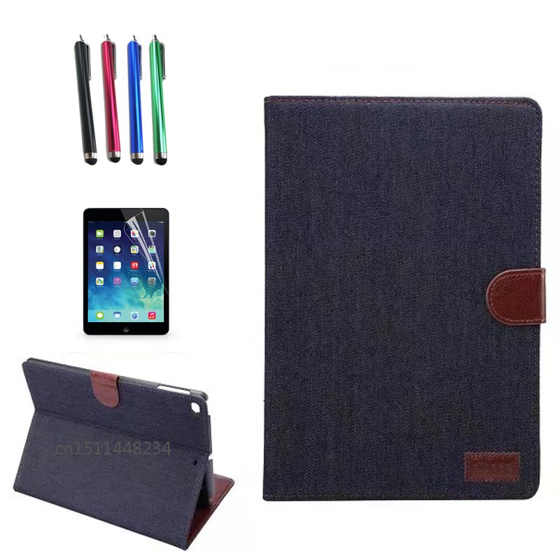 For iPad Air 1/ air 2 56 case Cover With Card Slots Business denim PU Leather Pr