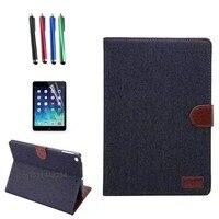 Para iPad Air 1/aire 2 56 Cubierta de la caja Con la Tarjeta ranuras de Negocios denim Pu Cubierta de Funda Protectora de la Tableta Accesorios + regalo