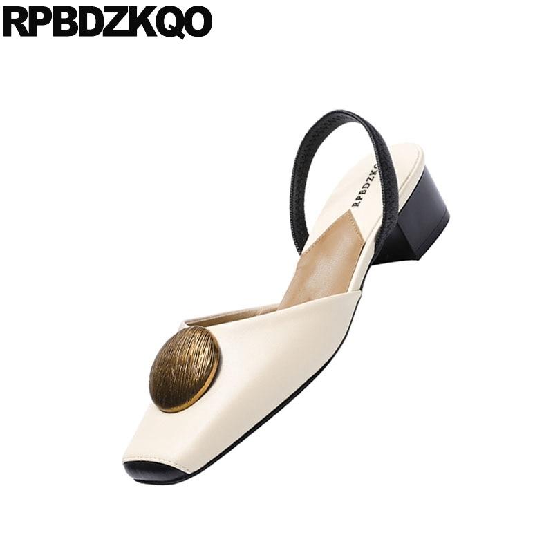 Tacón Resbalón Elegante Grueso De Tamaño Gruesa 34 Vintage 4 Bajo Zapatos Retro Pie Dedo Correa Damas En Sandalias Beige Cuadrado Del Verano 2018 CxqUqwdI