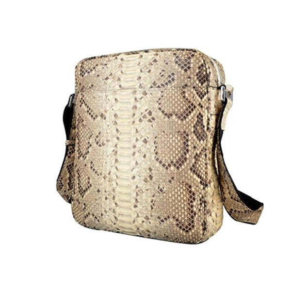 c017e29efab Jranter New Arrival Men Genuine Python Snakeskin Briefcase Business Bag  Black and White SBEX03