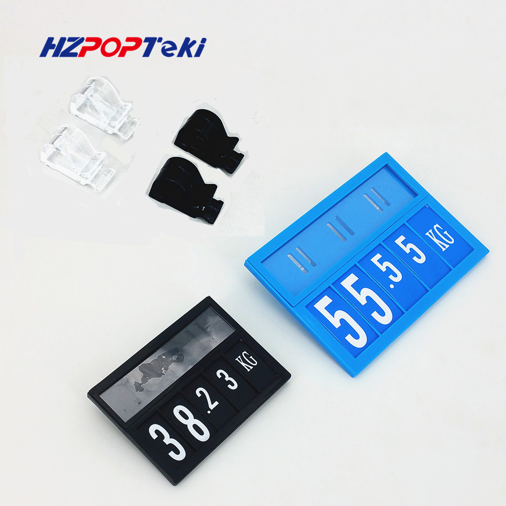 POP Promotion Price Sign Display Posted Label Card Plastic Holder Frame By Hang Hooks Replaceable In Supermarket 1000sets