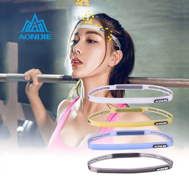 ✔  Aonijie силиконовая повязка на голову противоскользящая эластичная резиновая лента для волос футбол  ①