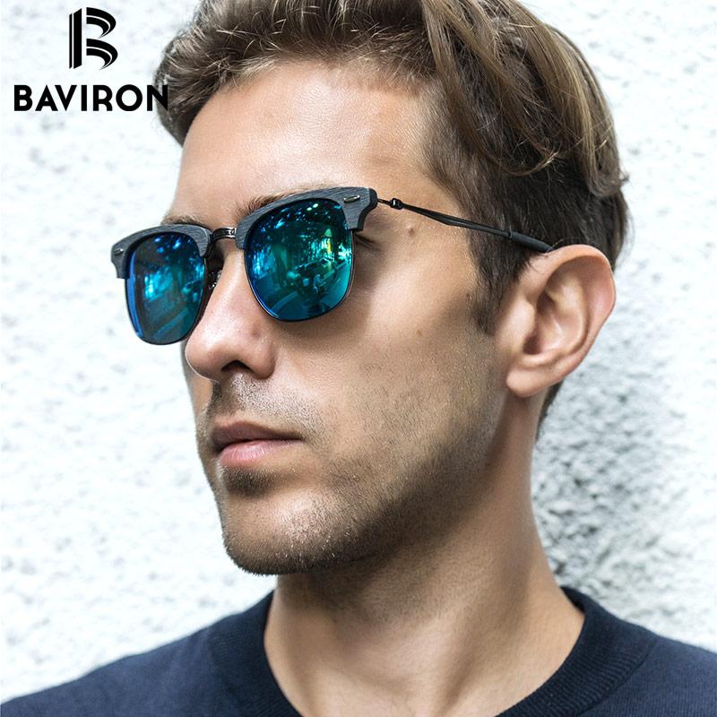 BAVIRON 2017 New Wooden Sunglasses Unisex Retro Trend Sun Glasses Metal Hand Making font b Polarized
