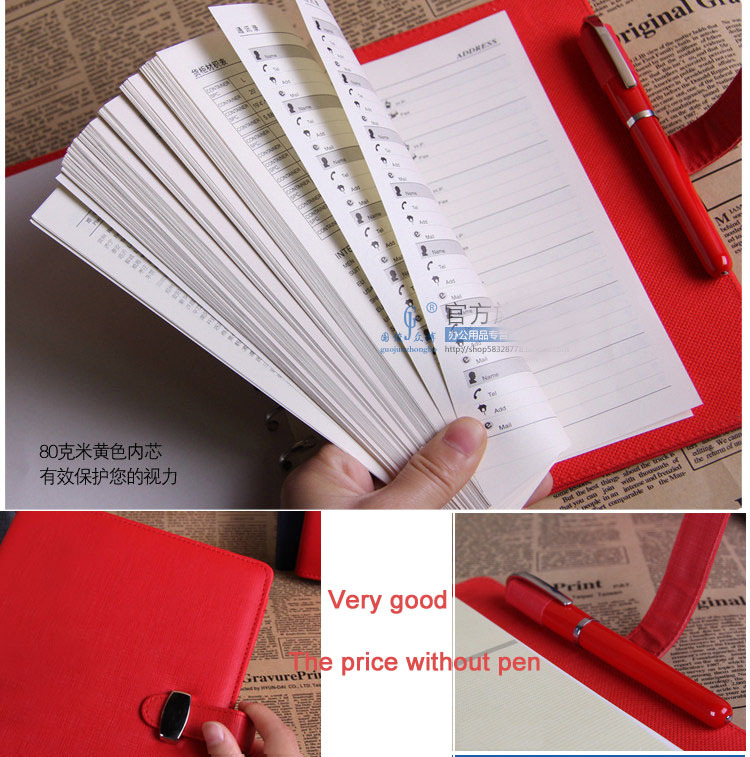 Hot Spiral Leather notebook paper A5 A6 A7 80 sheets Business diary Daily Planner Memos Card position Office school Supplies