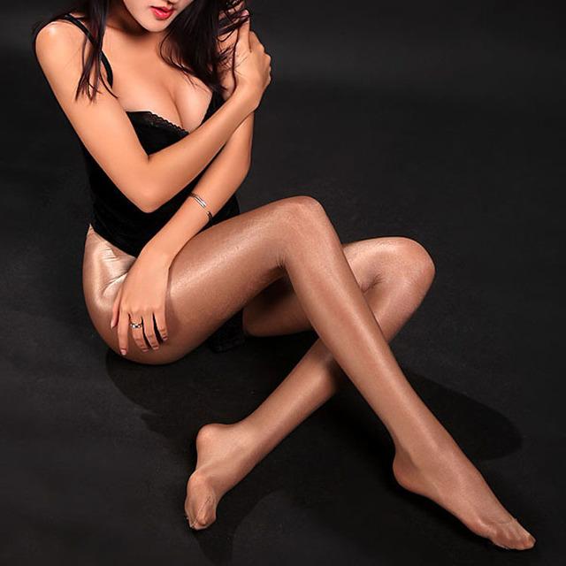 Frete grátis 50D alta-grade brilhante brilhante meia-calça meias de dança moldar meia-calça assentamento slick flash brilhante meia-calça pernas Tig