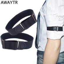 AWAYTR 1 Pair Men Women Anti-slip Shirt Sleeve Holders Unisex Stretchy Adjustable Armband Sleeve Garter Cosplay Armbands