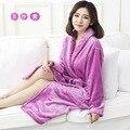 2016 New Coral Fleece Robe Lovers Sleepwear Flannel Bathrobes Robes Male Men Women Bathrobes Female Thickening Bathrobes