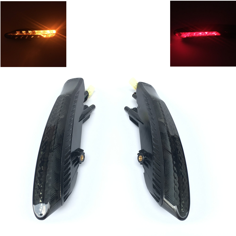XYIVYG Left/Right Rear Turn Signal Tail Brake Light For Ducati 2011-2015 Diavel Smoke Len 2012 2013 2014 11 12 13 14 15 new led tail light taillight turn signal lamp for ducati streetfighter s 848 1102012 2013 2014 smoke motorcycle parts