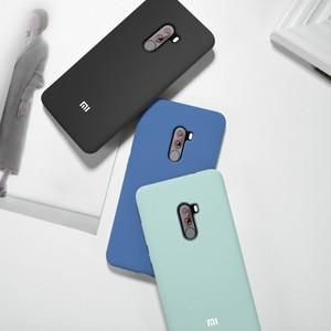 Image 4 - For Xiaomi Poco Pocophone F1 case luxury liquid silicone protective cover super comfortable shell