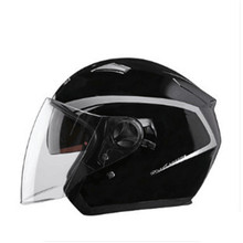 цена на Double Lens Helmet Modular Motorbike Helmet open Motorcycle Helmet For Motocross Racing (Large, Black) dark lens inner M L XL