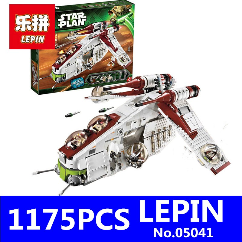 Republic Gunship LEPIN 05041 1175Pcs Stars Series Wars Educational Model Building Blocks Bricks Compatible Toy for Children Gift building blocks stick diy lepin toy plastic intelligence magic sticks toy creativity educational learningtoys for children gift
