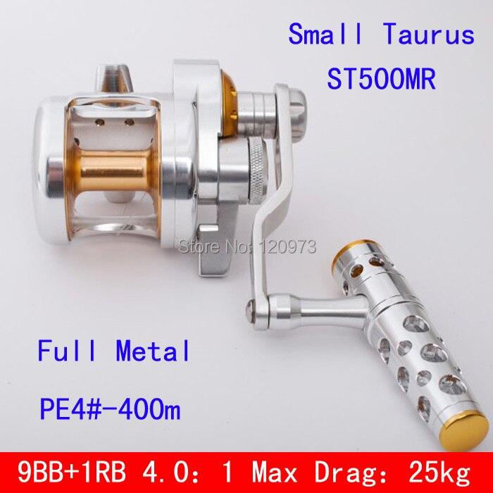 ST500MR Small Taurus Full Metal Jigging Reel Boat Fishing Reel Trolling Fish Jig Reels Casting Drum Wheel Fishing Tackles