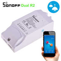 Sonoff Dual R-2 2CH Wifi Smart Switch Home Remote Control Wireless Switch Module Timer Switch Smart Home Controller