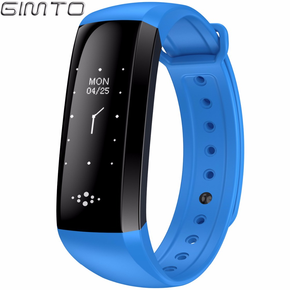 GIMTO Bluetooth Smart Bracelet Watch Sport Women Men Clock Blood Pressure Heart Rate FitnessTracker Pedometer For Android IOS cute love heart hollow out bracelet watch for women