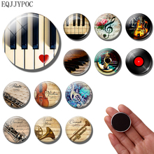 Music Note Fridge Magnet Musical Instrument Piano Guitar Clarinet Flute 30MM refrigerator magnets fridge sticker Home Decor m obiols divertimento for flute clarinet and piano