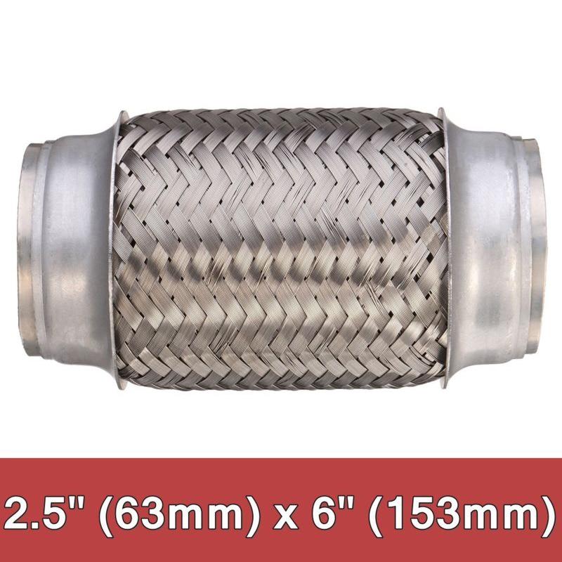 Weld On Exhaust Flexi Flexible Joint Repair Pipe Steel Flex 2.5/'/'x6/'/' 63x153mm