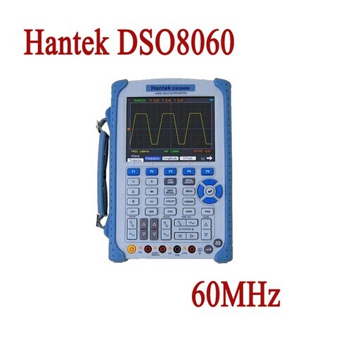 Hantek DSO8060 Osciloscopio Handheld Portable Digital Multimeter Oscilloscope USB LCD 60MHz 2 Channels DMM Spectrum Analyzer