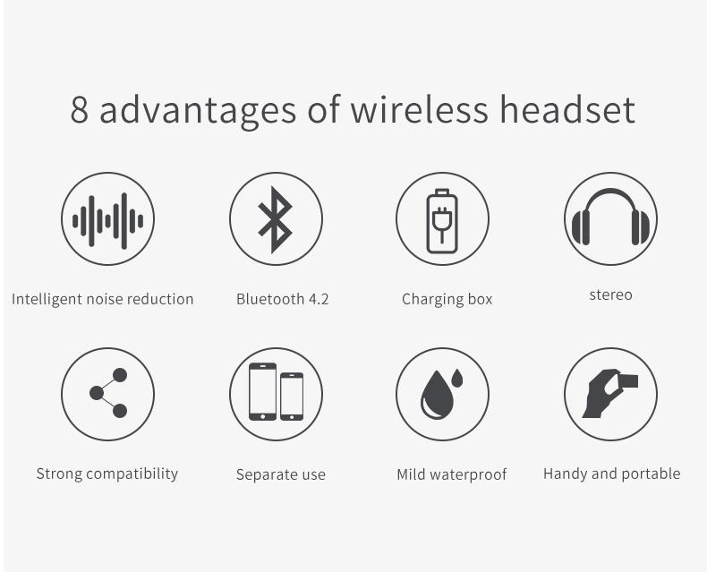 Original New Handsfree wireless Headphones i10 tws i9s i11