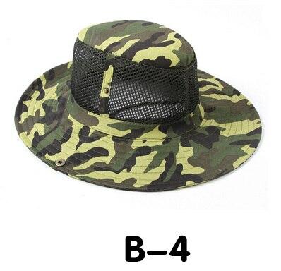 Новые модные камуфляжные летние кепки для мужчин и женщин, мужские круглые шапочки для военного кемпинга, уличная Солнцезащитная шляпа - Цвет: B 4