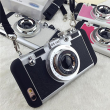 For iPhone 6 6S Case Plus Cover Vpower Luxury Innovative Camera TPU+PC Hybrid Phone Cases Apple