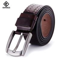 KAITESICZI 2017 Belt Men Genuine Leather Luxury Strap Male Belts For Men Buckle Fancy Vintage