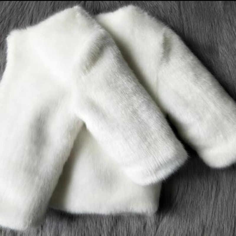 2019 סתיו חורף תינוק בנות בגדי פו פרווה תינוקות מעיל ארנב חם ילדי מעיל חליפת שלג ילדי קצר הלבשה עליונה N278
