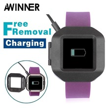 AWINNER Removal Style USB Power Easy Charger Cable Battery Charging Dock For Fitbit Blaze
