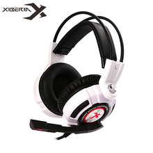 Best price XIBERIA K3 USB Gaming Headphones Virtual 7.1 Surround Sound Stereo Bass Headset with Microphone Vibration LED for Computer Gamer