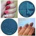 Ногти 5.5 Диск Шаблон Ногтей Штамповки Плиты Польский Трафареты Для Штампа Ногтей