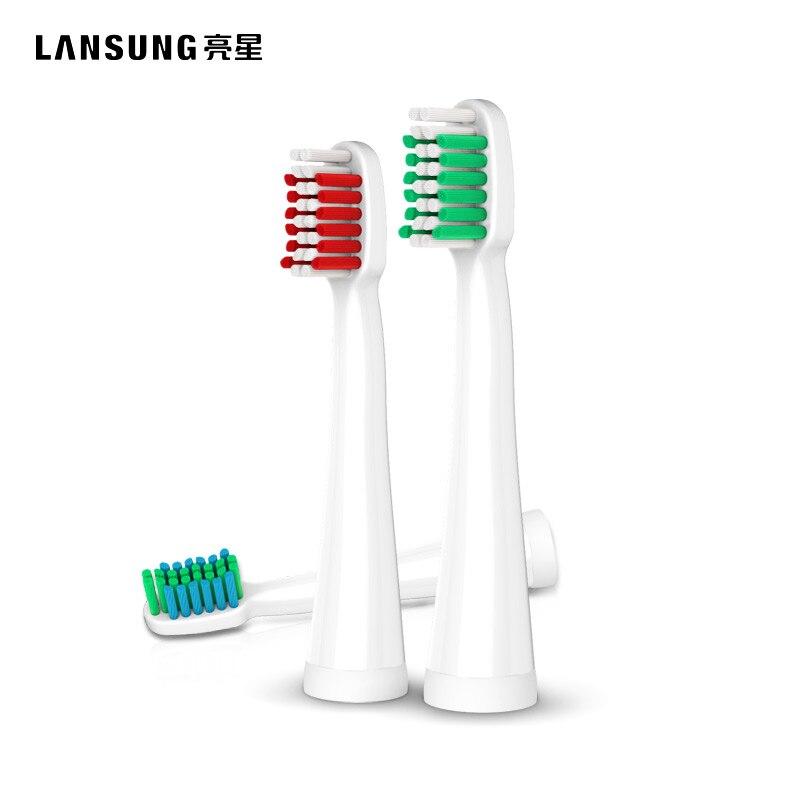 Lansung 4 pçs cabeça escova de dentes elétrica cabeça substituição apto para u1 a39 a39plus a1 sn901 sn902 escova de dentes higiene oral
