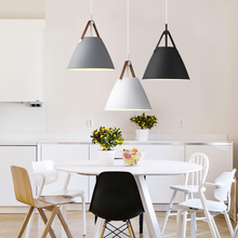 Nordic minimalist chandelier personality modern restaurant Cafe Restaurant single head aluminum Macaroni lamp nordic personality restaurant chandelier living room bedroom cafe bar decoration lamp round glass single head lamp free shipping
