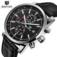 Reloj Hombre 2017 BENYAR Fashion Chronograph Sport Mens Watches Top Brand Luxury Military Quartz Watch Clock