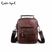 купить Cobbler Legend Genuine Leather Men Bags Flap Casual Handbags Male Shoulder Crossbody Bags Messenger Men Leather Bag Top-handle дешево