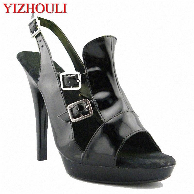 Chaussures Européenne Promotions De Et Performance Américain Super 15 Centimètres Acteur Confortable Noir Haut Sandales Talon q1SC8OwS