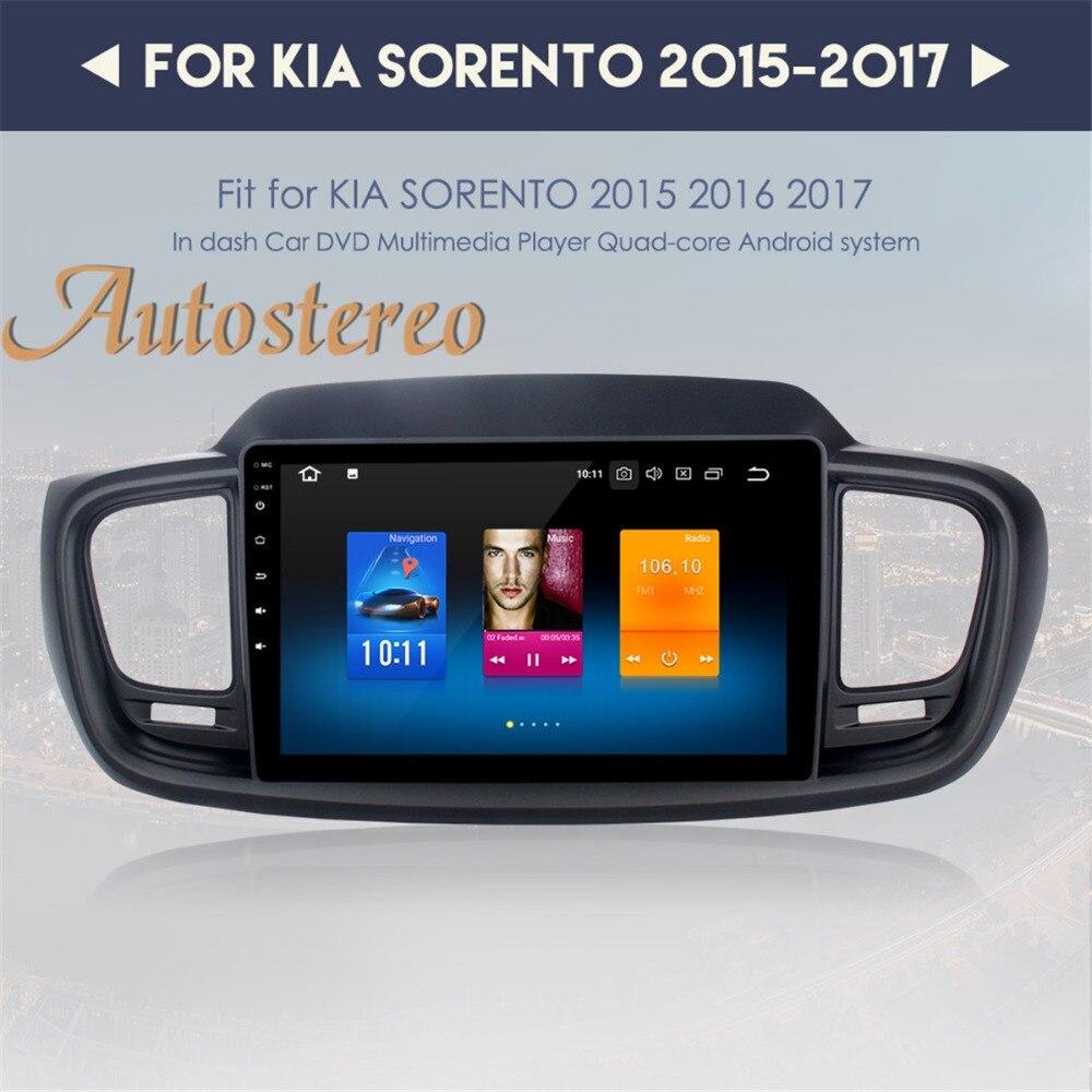 Autostereo Android 9 4G RAM octa Car GPS navigation headunit Multimedia For KIA SORENTO 2015 2016