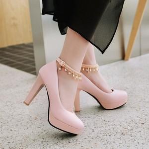 Image 5 - Große Größe 11 12 13 14 15 16 17 damen high heels frauen schuhe frau pumpen Paket die ferse Paket zehen Dick mit sandalen