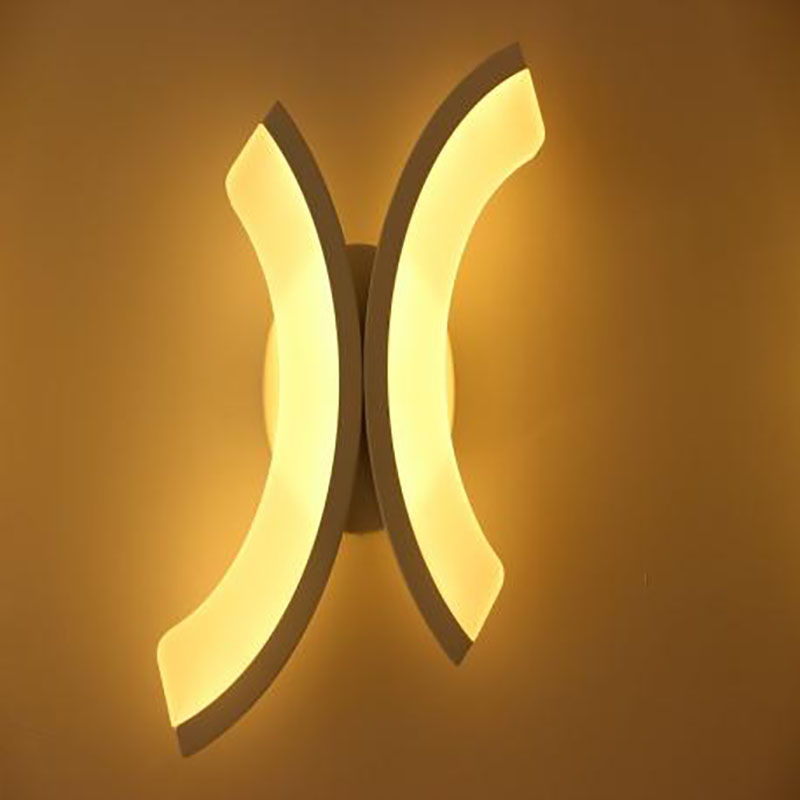 12W Double C shape LED wall lamp bedside lamp modern living room corridor hallway stairs lights Pathway Sconce Lighting bronze wall sconce lighting european style brass wall lights bedlamp bedside lamp living room wall lamp led wandlamp modern led