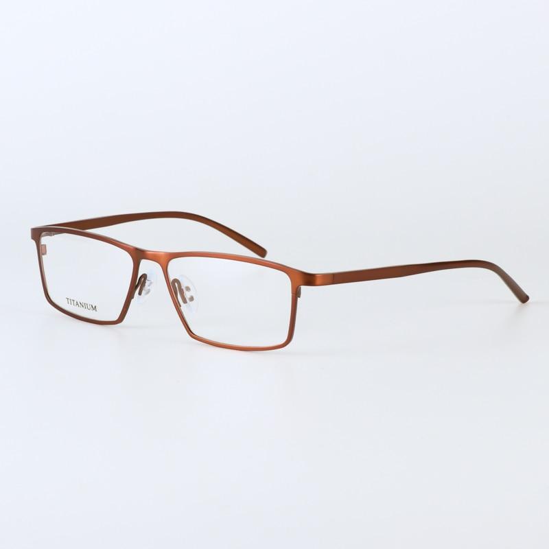 JIE.B zīmola brilles rāmis vīrieši sievietes Retro Pure titāna - Apģērba piederumi - Foto 3