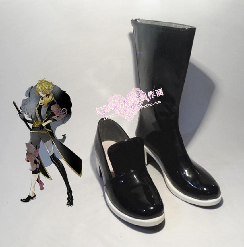 The sword dance Touken Ranbu Online Shishiou cosplay Shoes Boots Custom-Made