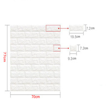 PE Foam  3D Sticker Self Adhesive Wallpaper DIY Brick Living  RoomTV Kids Safty BedroomWarm Home waterproof Decor Wall Sticker