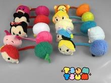 4 unids/set TSUM TSUM peluche muñecas toy Elsa Anna Minnie lindos del aro del pelo accesorios para el cabello banda de goma con elástico para las muchachas headwear