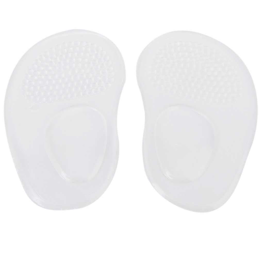 Fashion Boutique 1 pair Silicone Gel Insoles Shoe Pads for Arch Flat Feet Clear fashion boutique silicone gel insoles