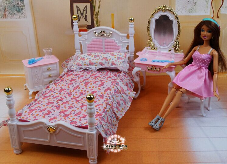 aliexpress koop roze prinses bed dressoir stoel set