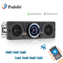 Podofo AV252B 12 В Bluetooth 1 Дин Радио Аудио плеер автомобиля электроники в тире MP3 аудио плеер автомобиля стерео fm-радио USB/TF